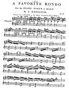 Rondo für Klavier (oder Harfe): Rondo für Klavier (oder Harfe) by Leopold Kozeluch