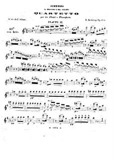 Scherzo für drei Flöten und Klavier, Op.100: Flötenstimme II by Emmanuele Krakamp