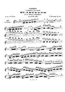 Scherzo für drei Flöten und Klavier, Op.100: Flötenstimme III by Emmanuele Krakamp