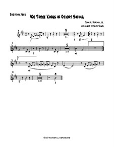 We Three Kings of Orient Swing: For easy sax quartet – baritone sax part by John H. Hopkins Jr.