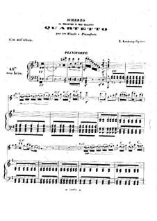 Scherzo für drei Flöten und Klavier, Op.100: Klavierstimme by Emmanuele Krakamp