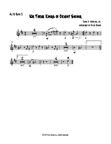 We Three Kings of Orient Swing: For easy sax quartet – alto sax II part by John H. Hopkins Jr.