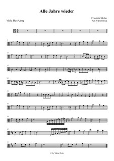 Alle Jahre wieder: For viola by Friedrich Silcher