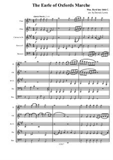 The Earl of Oxford's March: For wind quintet by William Byrd