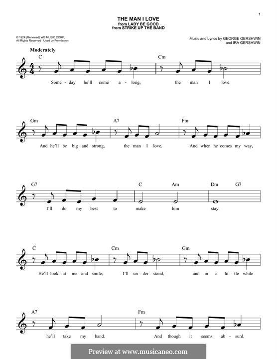 The Man I Love: Melodische Linie by George Gershwin