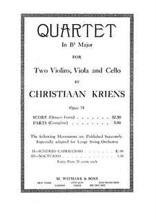 Streichquartett in B-Dur, Op.74: Streichquartett in B-Dur by Christiaan Kriens