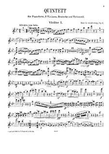 Klavierquintett in B-Dur, Op.2: Violinstimme I by Max Lewandowsky