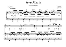 Ave Maria, D.839 Op.52 No.6: For Soprano or Tenor (In Latin). Original Key. Landscape in B-Flat Major by Franz Schubert