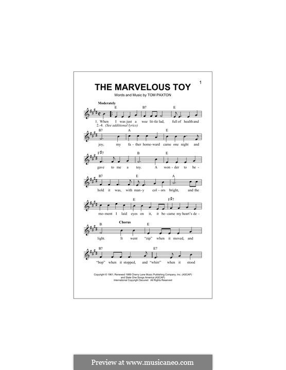The Marvelous Toy: Melodische Linie by Tom Paxton
