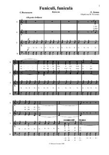 Funiculi, Funicula: Für gemischten Chor by Luigi Denza
