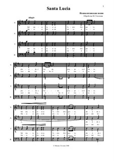 Santa Lucia: Für gemischten Chor by folklore