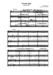 O Sole Mio: Für gemischten Chor by Eduardo di Capua