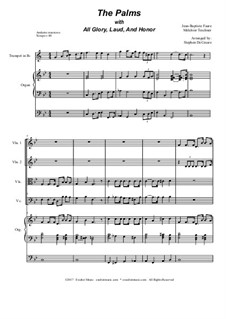 The Palms (with All Glory, Laud and Honor): Für Streichquartett by Jean-Baptiste Faure, Melchior Teschner