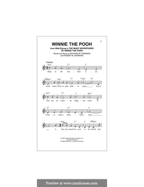 Winnie the Pooh: Melodische Linie by Richard M. Sherman, Robert B. Sherman