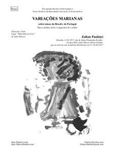 Marian Variations: For solo violin and piano by Zoltan Paulinyi