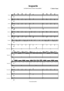 Das Aquarium: For large ensemble – only score by Camille Saint-Saëns