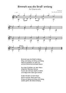 Bimmelt was die Straß' entlang: G Major by folklore