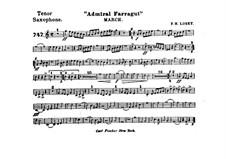 Admiral Farragut: Tenor saxophone part by Frank Hoyt Losey