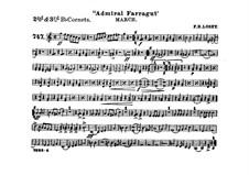 Admiral Farragut: Cornets II, III parts by Frank Hoyt Losey