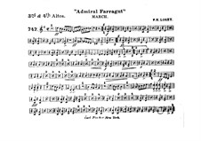 Admiral Farragut: Alto horns III, IV parts by Frank Hoyt Losey