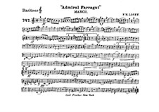 Admiral Farragut: Baritone horn part by Frank Hoyt Losey