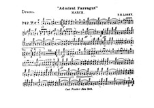 Admiral Farragut: Drum part by Frank Hoyt Losey