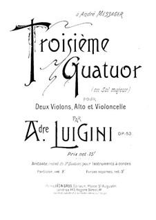 Streichquartett Nr.3 in G-Dur, Op.53: Cellostimme by Alexandre Luigini