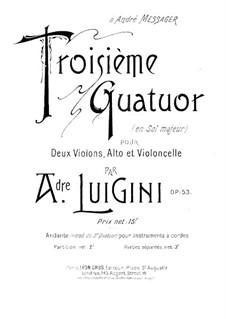 Streichquartett Nr.3 in G-Dur, Op.53: Violinstimme II by Alexandre Luigini