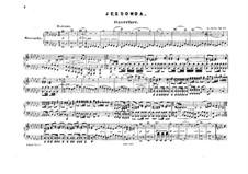 Jessonda: Für Klavier, vierhändig by Louis Spohr