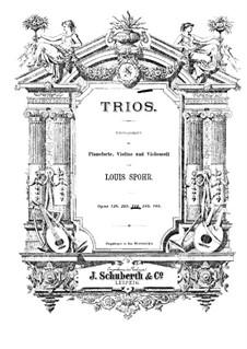Klaviertrio Nr.3 in a-Moll, Op.124: Vollpartitur by Louis Spohr