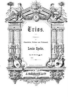 Grosses Klaviertrio Nr.4 in B-Dur, Op.133: Cellostimme by Louis Spohr