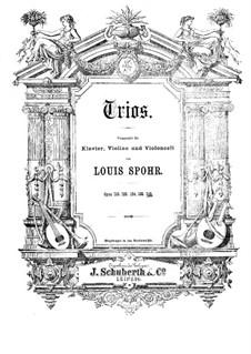 Grosses Klaviertrio Nr.5 in g-Moll, Op.142: Violinstimme by Louis Spohr
