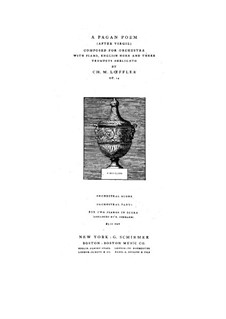 A Pagan Poem, Op.14: A Pagan Poem by Charles Martin Loeffler