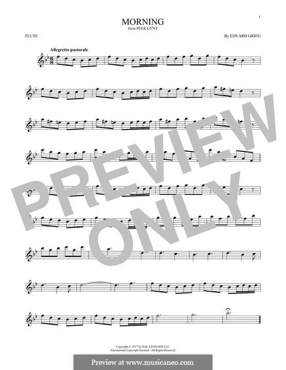 Suite Nr.1. Morgenstimmung, Op.46 No.1: Für Flöte by Edvard Grieg
