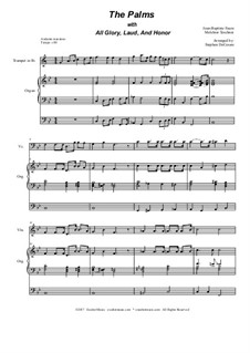 The Palms (with All Glory, Laud and Honor): Duet for violin and cello by Jean-Baptiste Faure, Melchior Teschner