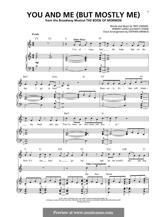 You and Me (But Mostly Me): Für Stimme und Klavier by Robert Lopez, Trey Parker, Matt Stone