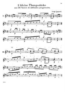 Sechsunddreissig Walzer für Gitarre, Op.63: Nos.4-5 by Luigi Legnani