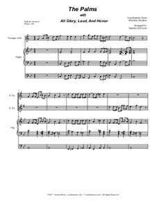 The Palms (with All Glory, Laud and Honor): Duet for soprano and alto saxophone by Jean-Baptiste Faure, Melchior Teschner