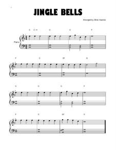 Jingle Bells, für Klavier: Short version by James Lord Pierpont