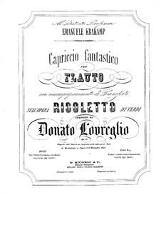 Capriccio über 'Rigoletto' von Verdi: Capriccio über 'Rigoletto' von Verdi by Donato Lovreglio