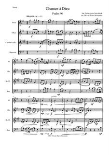 Chantez à Dieu: For wind quartet by Jan Pieterszoon Sweelinck