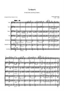 Tambourin in F-Dur: For violin and strings by François Joseph Gossec