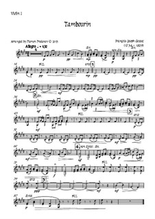 Tambourin in F-Dur: For violin and strings - violin I part by François Joseph Gossec