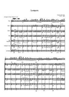 Tambourin in F-Dur: For flute and strings by François Joseph Gossec