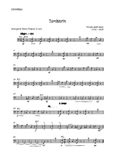 Tambourin in F-Dur: For flute and strings - contrabass part by François Joseph Gossec