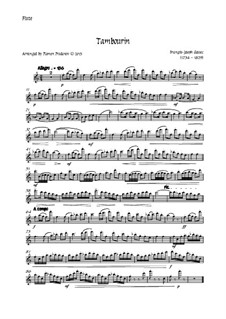 Tambourin in F-Dur: For flute and strings - flute part by François Joseph Gossec