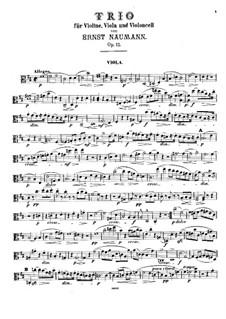 Streichtrio in D-Dur, Op.12: Violastimme by Ernst Naumann