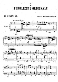 Tyrolienne originale No.1: Tyrolienne originale No.1 by Charles Neustedt