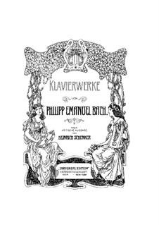 Sammlung I, Wq 55: Sonate No.6 in G-Dur by Carl Philipp Emanuel Bach