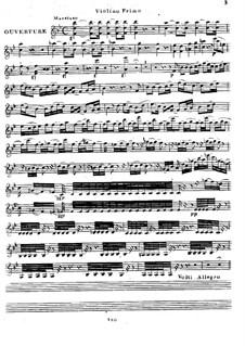 Eliza ou Le Voyage aux Glaciers du Mont St. Bernard: Overture, for String Quartet – Violin I by Luigi Cherubini
